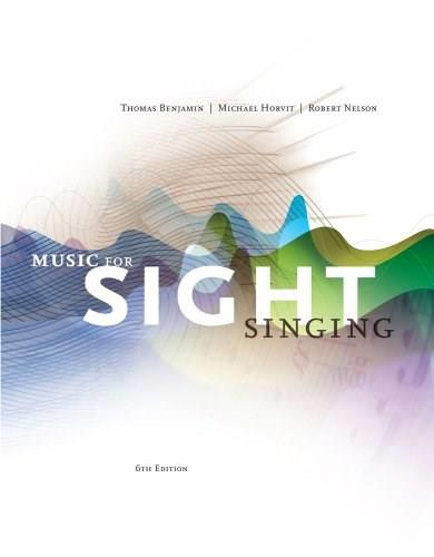 Music for Sight Singing, by Benjamin, 6th Edition 9781133307976