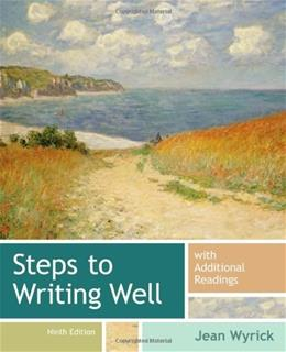 Steps to Writing Well with Additional Readings 9 9781133311294