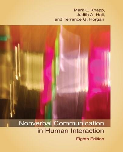 Nonverbal Communication in Human Interaction 8 9781133311591