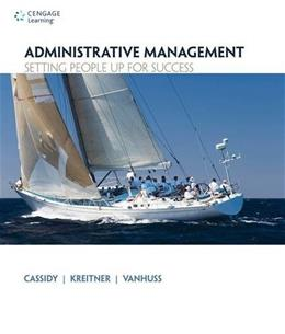 Administrative Management: Setting People Up for Success, by Cassidy 9781133365174