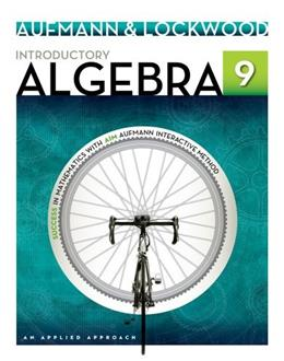 Introductory Algebra: An Applied Approach 9 9781133365433