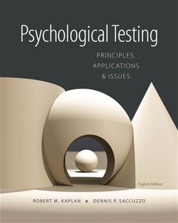 Psychological Testing: Principles, Applications, and Issues 8 9781133492016