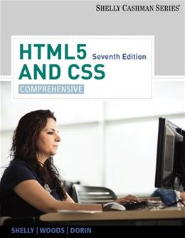 HTML5 and CSS: Comprehensive 7 9781133526148