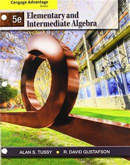 Bundle: Cengage Advantage Books: Elementary and Intermediate Algebra, 5th + Enhanced WebAssign Single-Term LOE Printed Access Card for Developmental Math 9781133543626