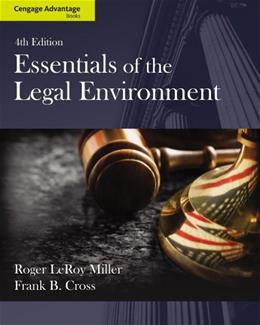Cengage Advantage Books: Essentials of the Legal Environment 4 9781133586548