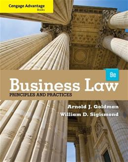 Cengage Advantage Books: Business Law: Principles and Practices 9 9781133586562