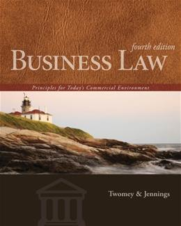 Business Law: Principles for Todays Commercial Environment 4 9781133588245