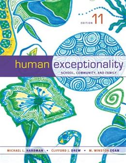 Human Exceptionality: School, Community, and Family 11 9781133589839