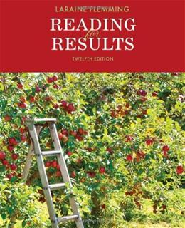 Reading for Results, by Flemming, 12th Edition 9781133589969