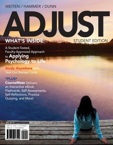 ADJUST (with CourseMate, 1 term (6 months) Printed Access Card) (New, Engaging Titles from 4LTR Press) PKG 9781133594987