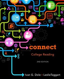 Connect College Reading, by Dole, 2nd Edition 9781133602675
