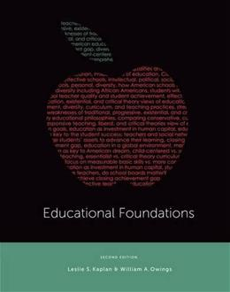 Educational Foundations, by Kaplan, 2nd Edition 9781133603092