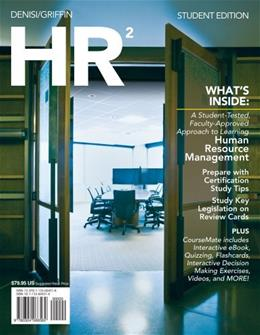HR 2.0, by DeNisi, 2nd Edition 2 PKG 9781133604518