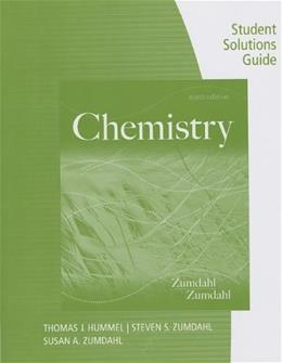 Chemistry, by Zumdahl, 9th Edition Solutions Guide 9781133611998