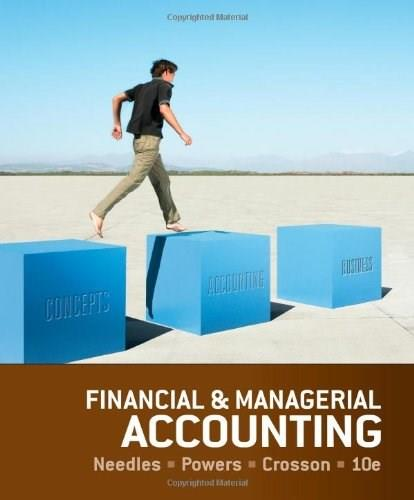 Financial and Managerial Accounting 10 9781133626992