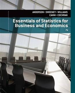 Essentials of Statistics for Business and Economics 7 PKG 9781133629658