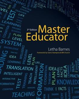 Master Educator, by Barnes, 3rd Edition 9781133693697