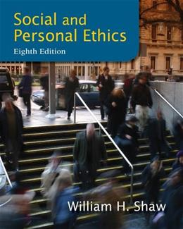 Social and Personal Ethics, 8th Edition 9781133934738