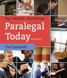Paralegal Today: The Essentials 6 9781133935629