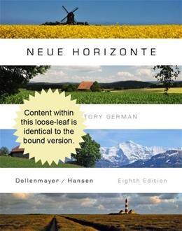 Neue Horizonte, by Dollenmayer, 8th Cengage Advantage Edition 9781133936923