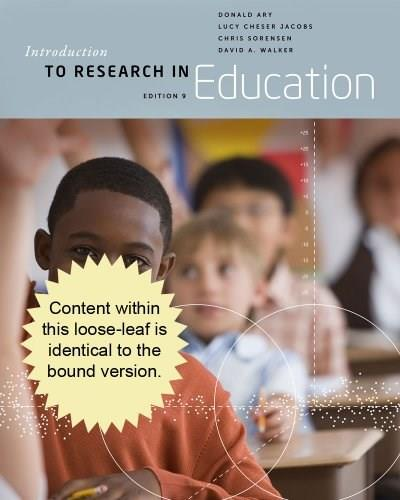 Introduction to Research in Education, by Ary, 9th Cengage Advantage Edition 9781133941118