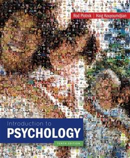 Introduction to Psychology, by Plotnik, 10th Edition 9781133943495