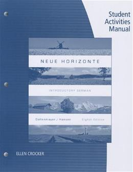 Neue Horizonte, by Dollenmayer, 8th Edition, Student Activities Manual 9781133946175