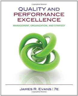 Quality & Performance Excellence 7 9781133955931