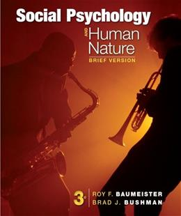Social Psychology and Human Nature, Brief 3 9781133956402