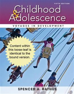 Cengage Advantage Books: Childhood and Adolescence: Voyages in Development 5 9781133956457