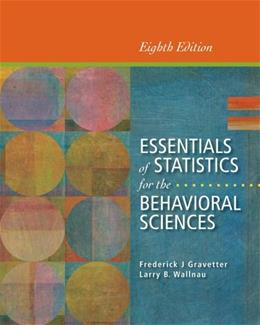 Essentials of Statistics for the Behavioral Sciences 8 9781133956570