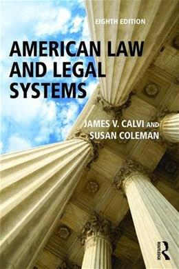 American Law and Legal Systems 8 9781138654396