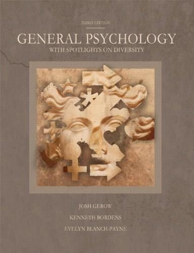 General Psychology with Spotlights on Diversity, by Gerow, 3rd Edition 9781256366720