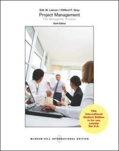 Project Management: The Managerial Process 6th Revise 9781259010705