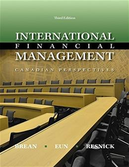 International Financial Management: Canadian Perspective, by Eun 9781259075438
