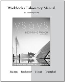 Vis-à-Vis: Beginning French, by Amon, 6th Edition, Workbook/Laboratory Manual 9781259111006