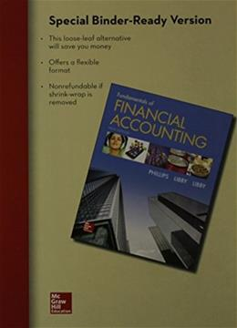 Fundamentals of Financial Accounting, by Phillips, 5th Edition 9781259115400