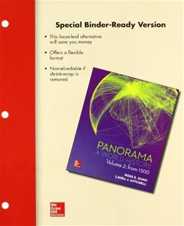 Panorama: A World History, by Brown, Volume 2: From 1300 9781259156861