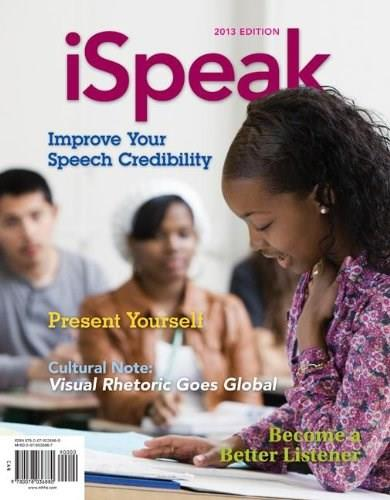 iSpeak: Public Speaking for Contemporary Life, by Nelson, 5th Ediiton 9781259159497