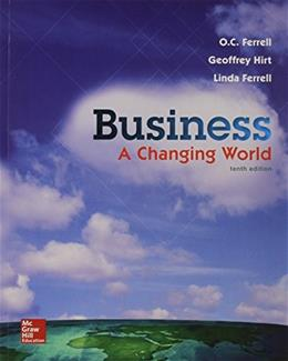 Business: A Changing World - Standalone Book 10 9781259179396