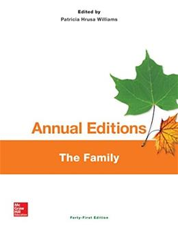 Annual Editions: The Family, by Annual Editions, 41st Edition 9781259181757