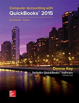 Computer Accounting with QuickBooks 2015 17 9781259183867