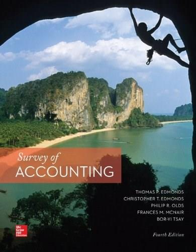 Survey of Accounting, by Edmonds, 4th Edition 4 PKG 9781259185083