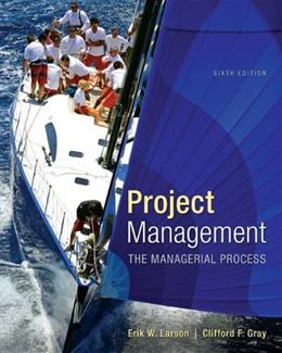 Project Management: The Managerial Process with MS Project (The Mcgraw-hill Series Operations and Decision Sciences) 6 PKG 9781259186400