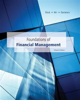Foundations of Financial Management, by Block, 15th Edition 15 PKG 9781259191275