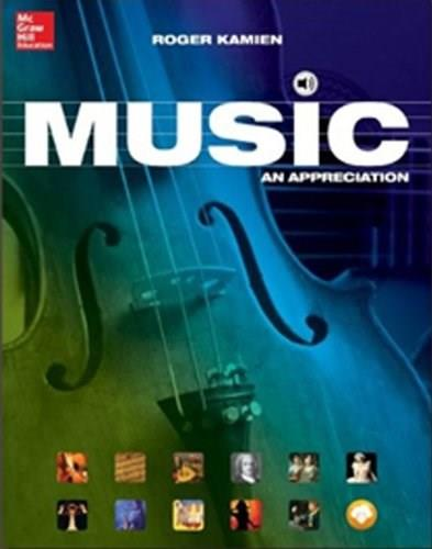 MP3 Disc for Music: An Appreciation, by Kamien, 11th Edition, CD-ROM ONLY 11 CD-ROM 9781259203152