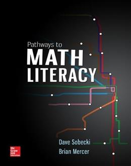 Pathways to Math Literacy, by Sobecki 9781259218859