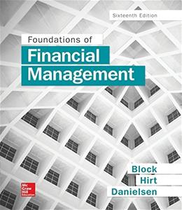 Foundations of Financial Management, by Block, 16th Edition 9781259277160