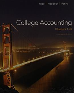 College Accounting, by Price, 14th Edition, Chapters 1-30 14 PKG 9781259284861