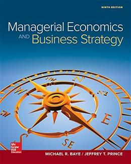 Managerial Economics & Business Strategy (Mcgraw-Hill Series Economics) 9 9781259290619